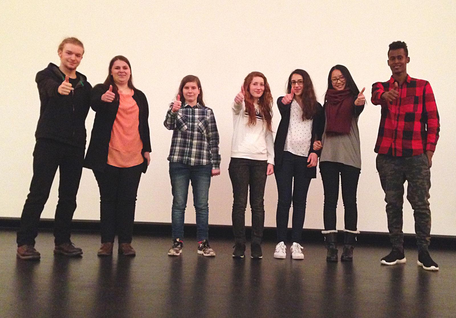 SchülerInnen des Anti Rassismus Projekt November 2016